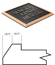 Cast Plaques Borders - Single Line Bevel Border