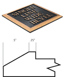 Cast Plaques Borders - Single Line Wide Bevel Border