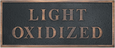 Cast Plaques Optional Finish - Light Oxidized