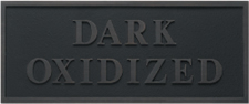 Cast Plaques Optional Finish - Dark Oxidized