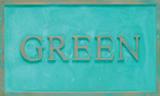 Cast Plaques Optional Finish - Green Patina