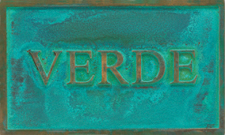 Cast Plaques Optional Finish - Verde Patina