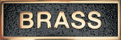 Cast Plaques Optional Finish - Polished Brass